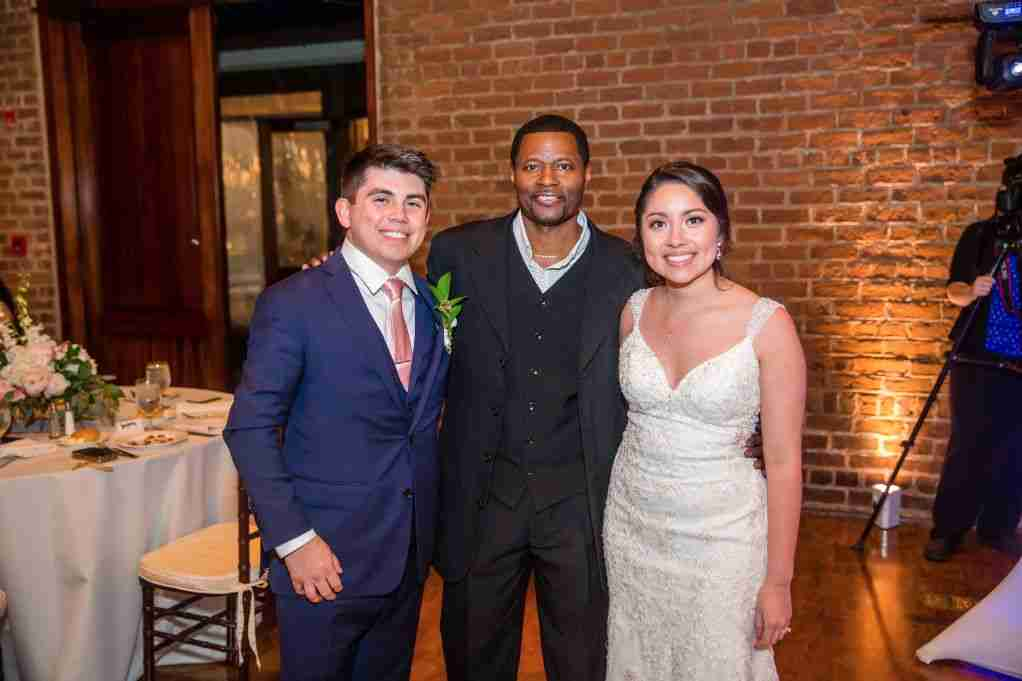 DJ Creativity Photo with Bride and Groom at Charles H Morris Center in Savannah, GA