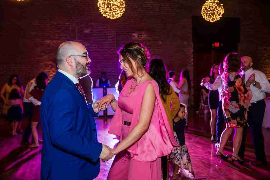 Wedding Guests Dancing, DJ Creativity, Charles Morris Center, Savannah, GA