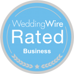 Boss Playa Productions Reviews_weddingwire rated business logo transparent background