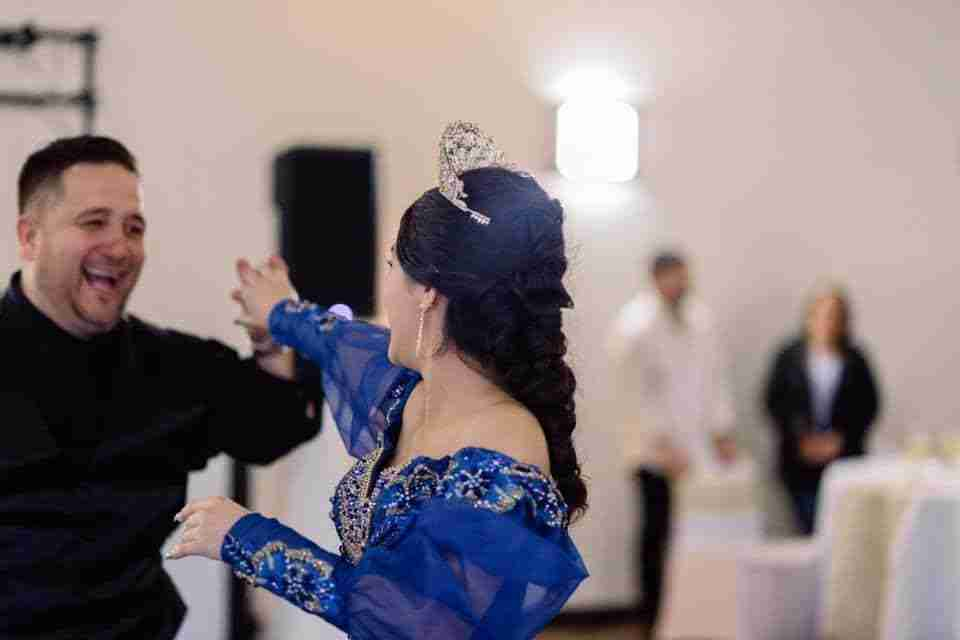 Daughter Dancing with Her Father at her Quinceanera in Savannah Georgia
