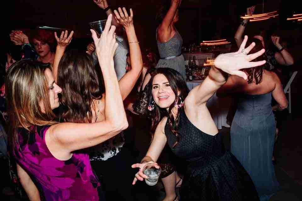 Guests Dancing at 40th Birthday Party, Savannah, Georgia