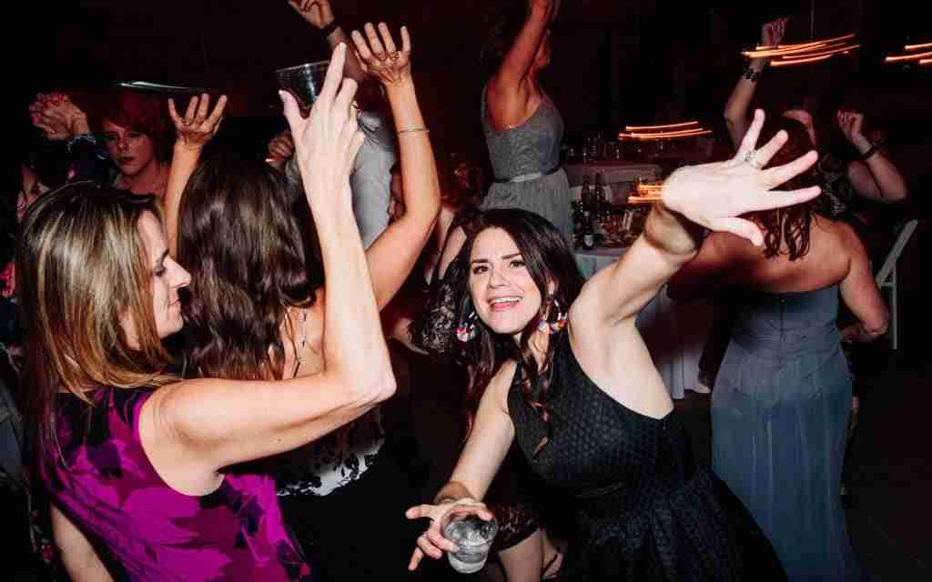 Savannah GA DJs-Guests Dancing during Wedding Reception at Loray Mill Gastonia, NC
