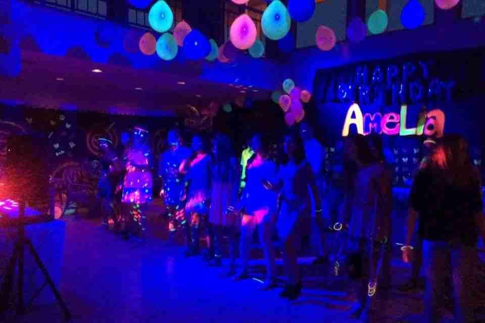 Sweet 16, UV Blacklight, Glow In The Dark Birthday Party, Richmond Hill, GA