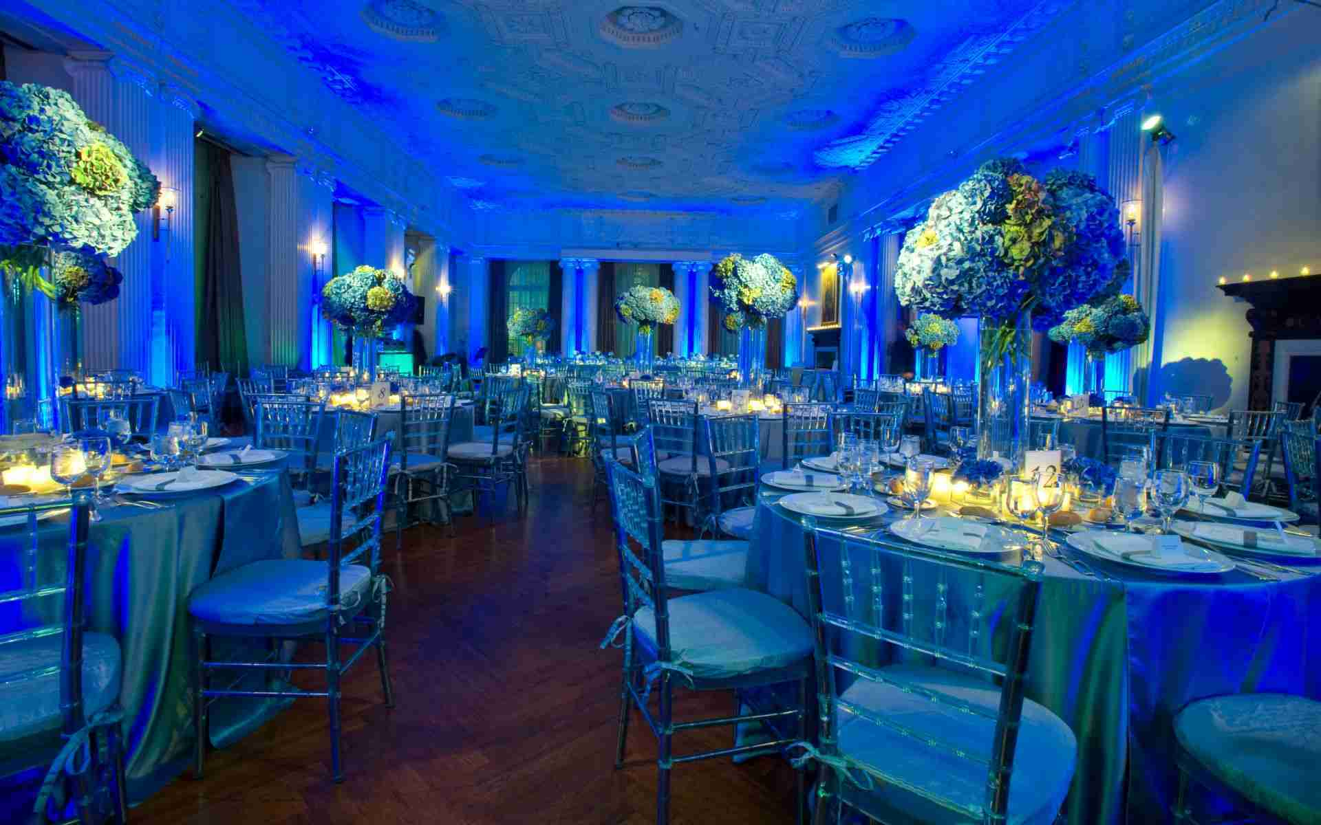 Savannah GA Destination Wedding-Uplight Example_Monogram Example_Royal Blue