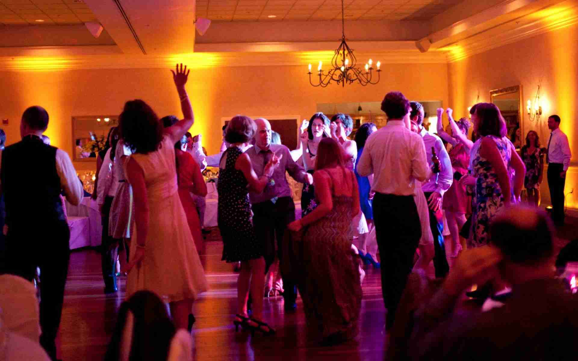 Corporate Party DJ_40th Birthday_Wedding_Uplight Example_Gold