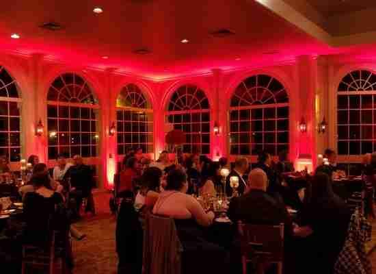 Uplighting Around Wedding Venue_Wine