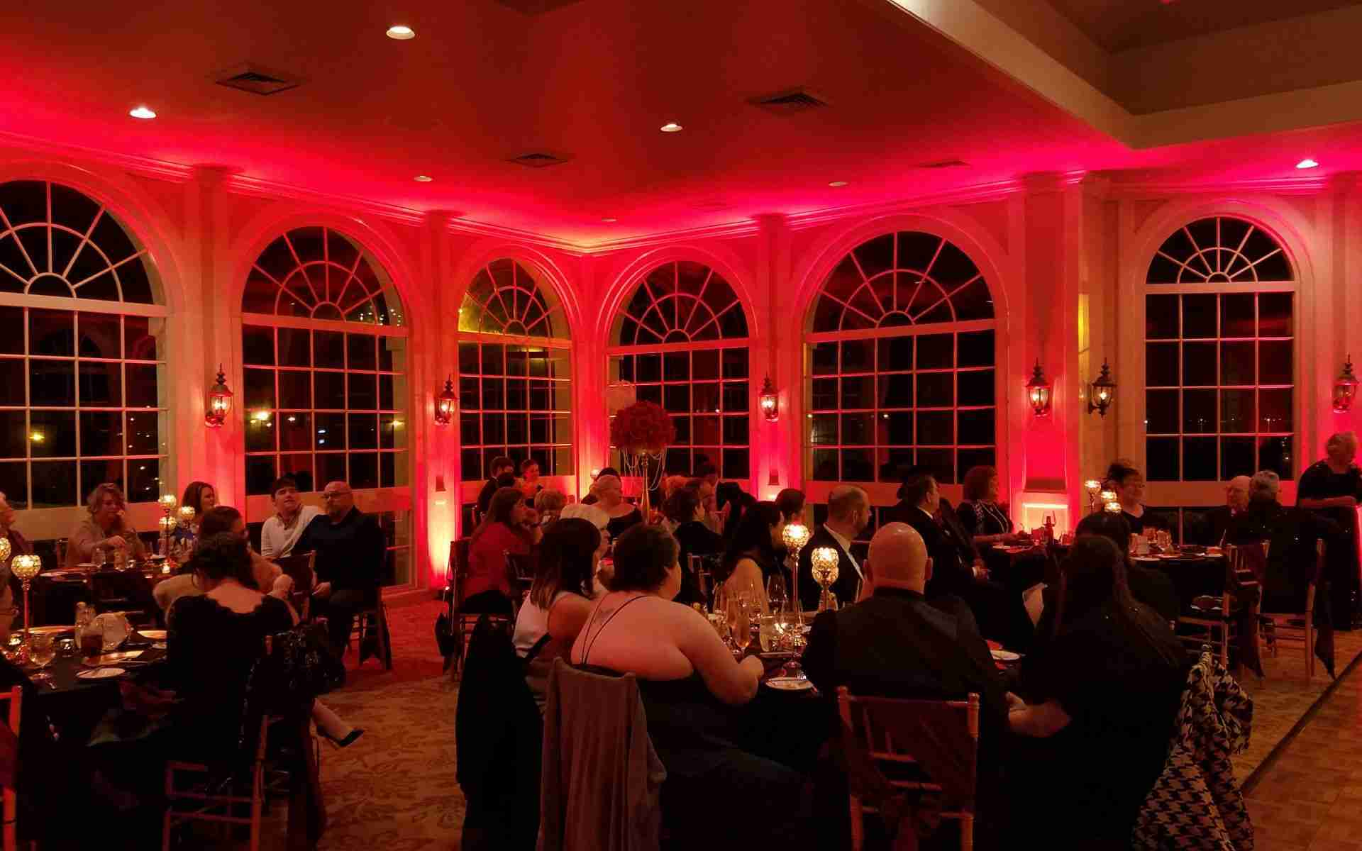 Uplighting Around Wedding Venue_Wine