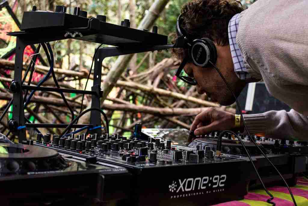 Amateur DJ pushing buttons_Technical Difficulty