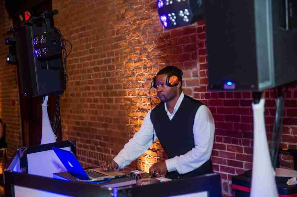 Wedding DJ_DJ Creativity spins the tunes, Seymour Wedding Reception at Charles H Morris Center, Savannah, GA