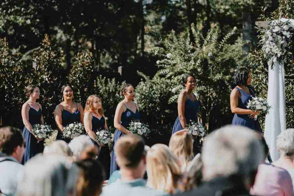 Charlotte Hornets Themed Wedding Ceremony_Bridesmaids