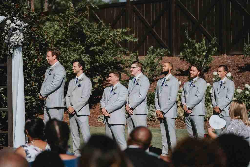 Charlotte Hornets Themed Wedding Ceremony_Groomsmen