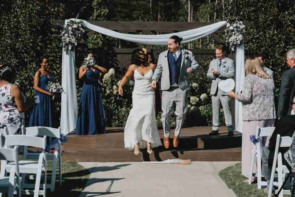 Charlotte Hornets Themed Wedding Ceremony_Jump The Broom