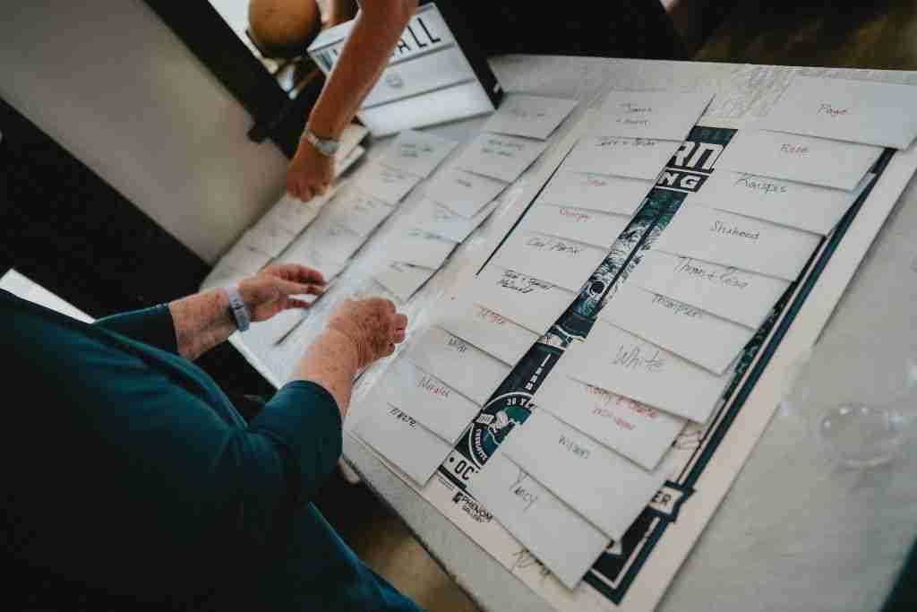 Charlotte Hornets Themed Wedding Ideas_Gift Table