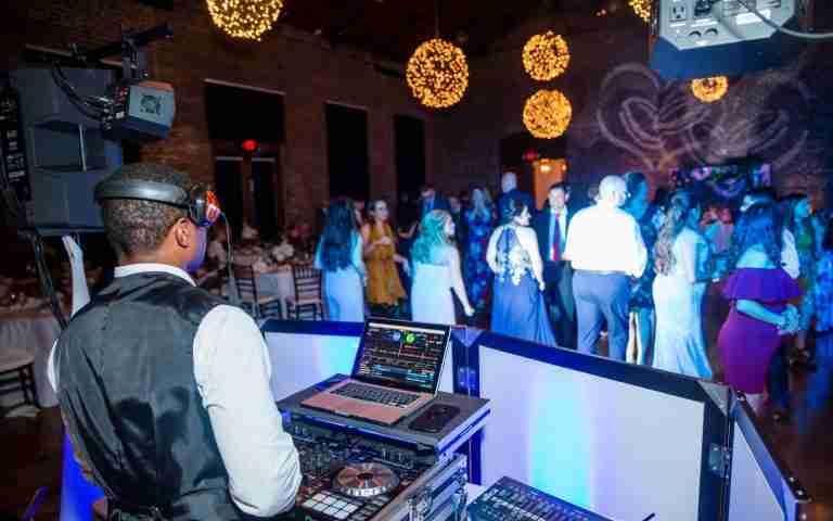 Wedding DJ in Savannah, GA, DJ Creativity at Seymour Wedding Reception, Charles H Morris Center