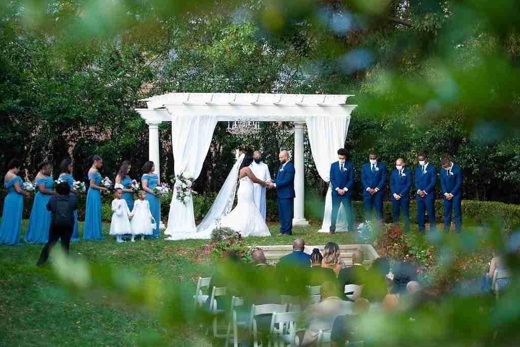 Autum Wedding Ceremony_Outside Wedding at Separk Mansion