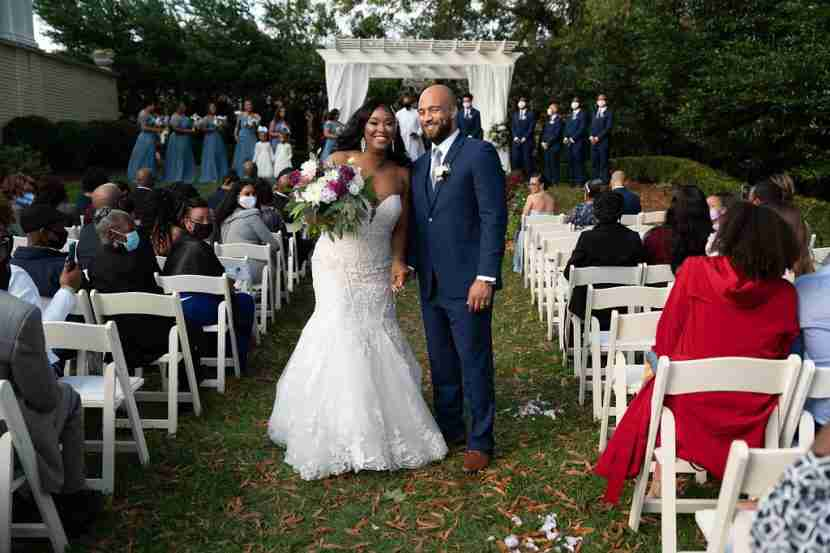 Whitney_Bradley_Just Married at Separk Mansion_Fall Wedding_Outside Ceremony