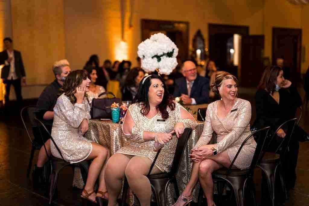 Savannah Wedding Vendors - Guests laughing at Savannah Station