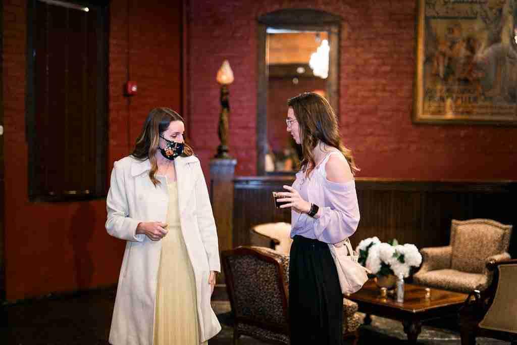 Savannah Wedding Vendors - Guests mingle at Savannah Station