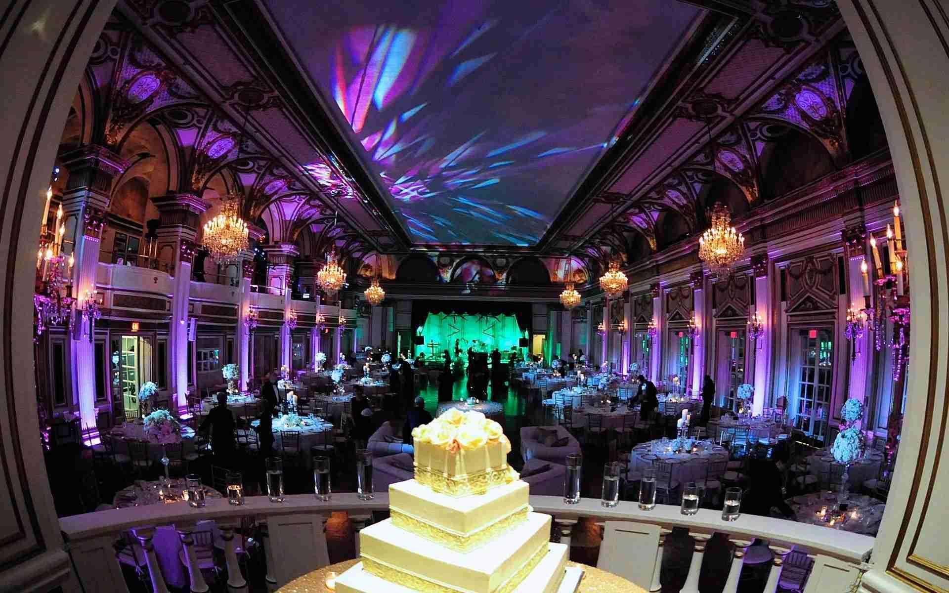 Wedding DJ Savannah GA-Uplighting-pinspots_Example Lavender_Ice Blue