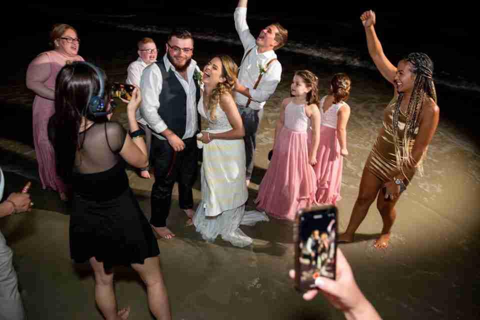 A Beautiful Beach Wedding on Hilton Head Island, SC 2021_Newlyweds Laughing