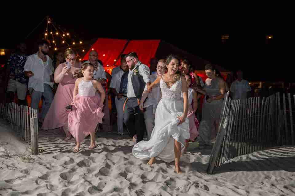 A Beautiful Beach Wedding on Hilton Head Island, SC 2021_Running To The Ocean_1