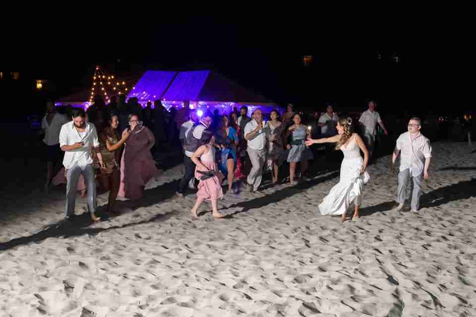 A Beautiful Beach Wedding on Hilton Head Island, SC_Running To The Ocean_2