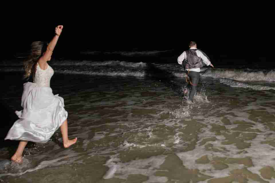 A Beautiful Beach Wedding on Hilton Head Island, SC_Running To The Ocean_3