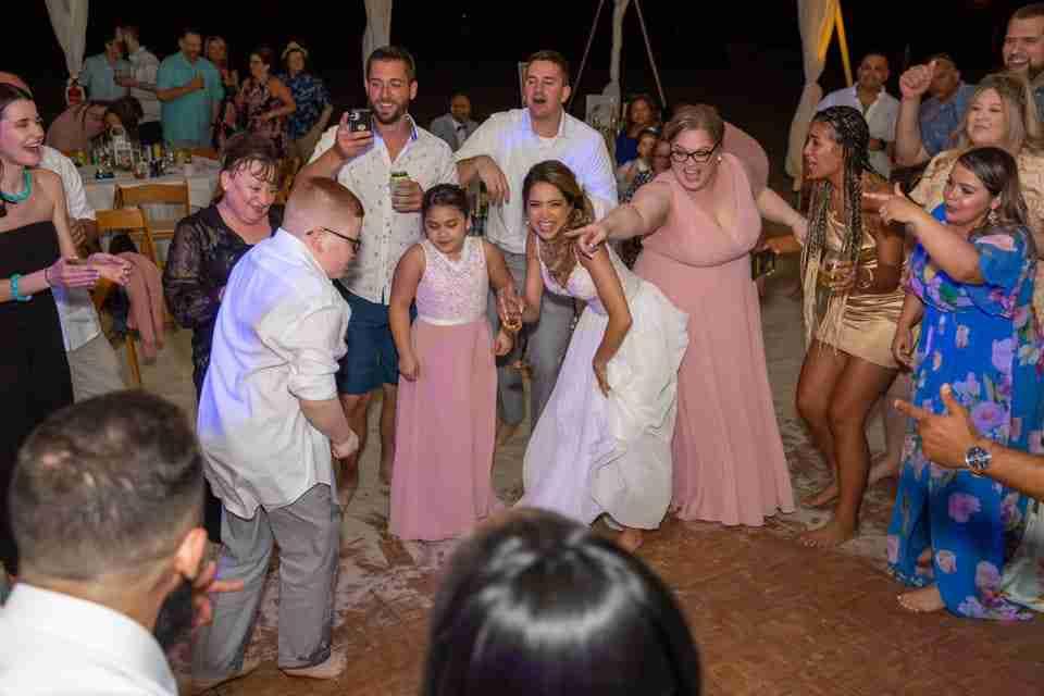 Wedding Reception Guests Dancing at Holiday Inn Resort Beach House_10