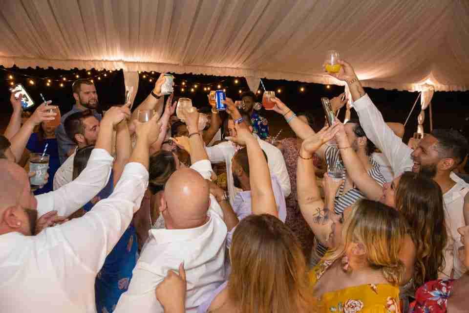 Wedding Reception Guests Dancing at Holiday Inn Resort Beach House_2
