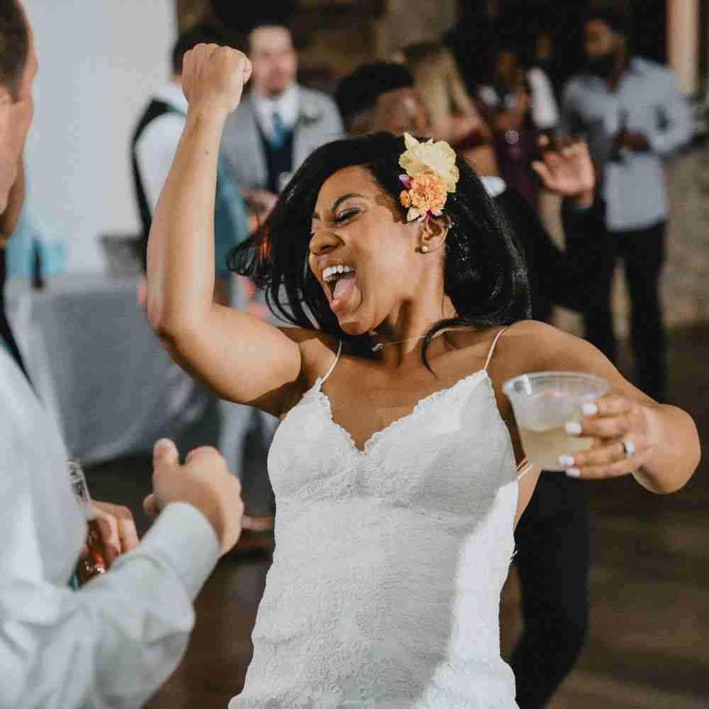 Wedding DJ Cornelius, NC_Bride Dancing at Sweet Magnolia Estate