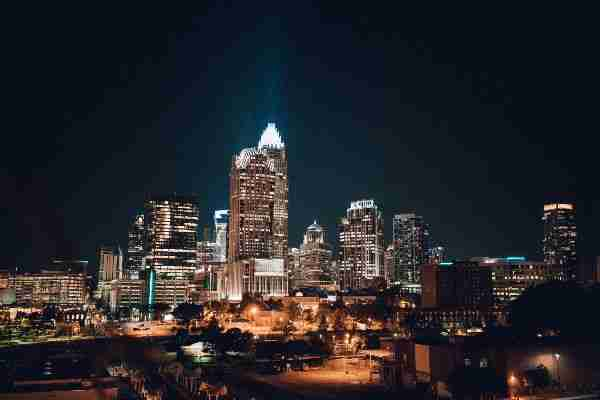 Weddings In Charlotte NC and Surrounding areas_Evening Skyline